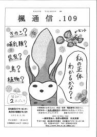 楓通信109号      冬芽・クモ・ウソ