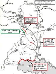 6月1日時点の「通行止め歩道」及び「迂回路」について